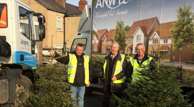Anwyl helps charity raise £2.5K from Christmas tree collection