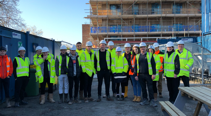 Student site visit supports careers in construction